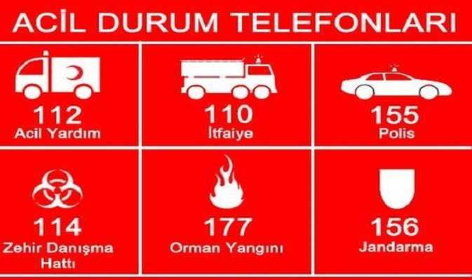 شماره تلفن های اضطراری استانبول 4